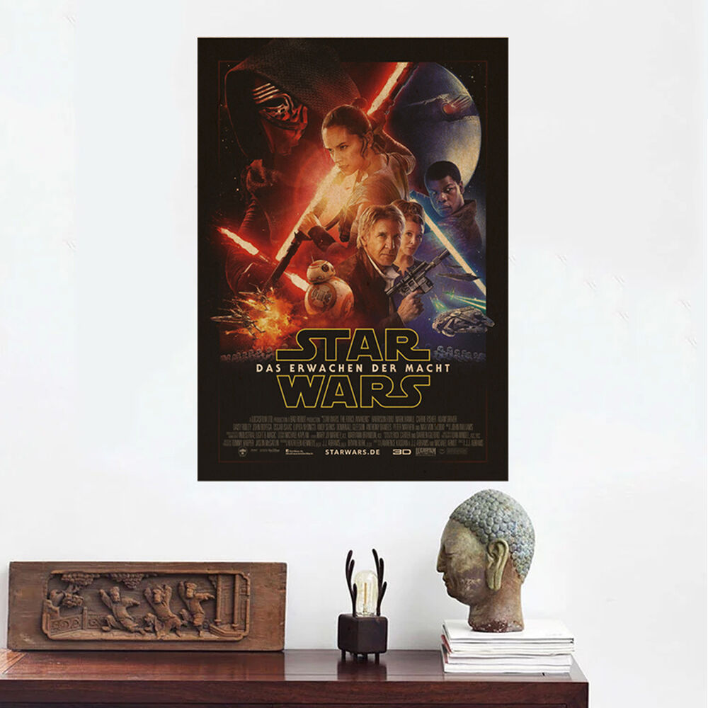 Movie Poster Star Wars Art Wall Home Bar Party Decoration 50x35 Decoration Ebay