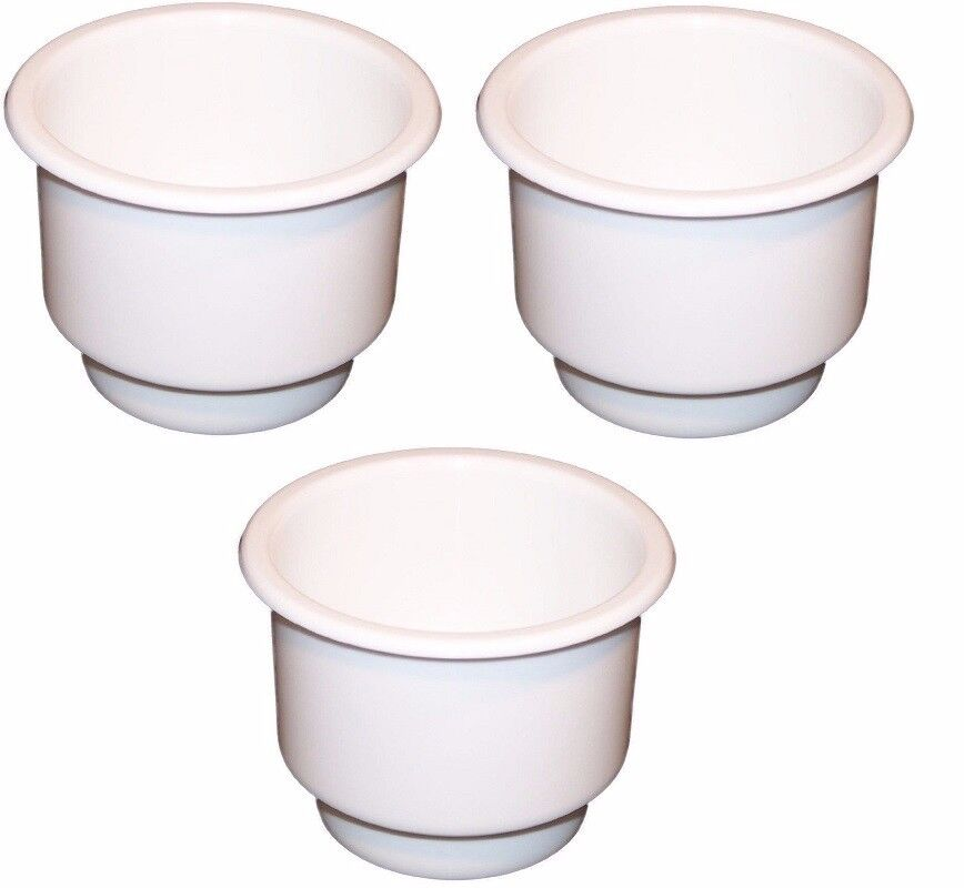 Pack White Plastic Cup Holder Boat Car Truck Inserts