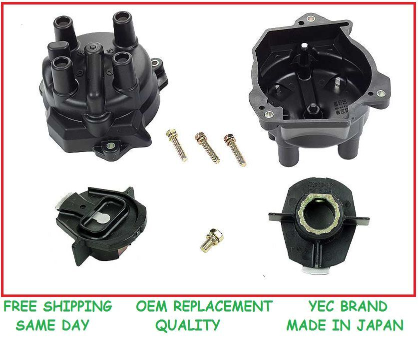 New Yec Distributor Cap Amp Rotor Made In Japan Fits Nissan