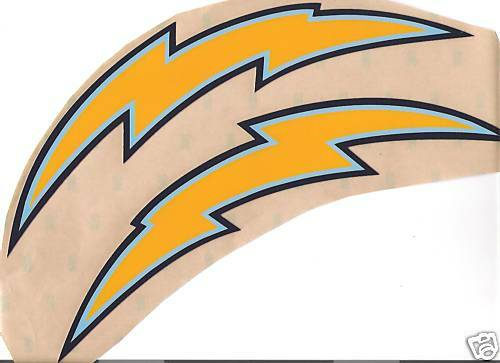 San Diego Chargers Full Size Football Helmet Decals