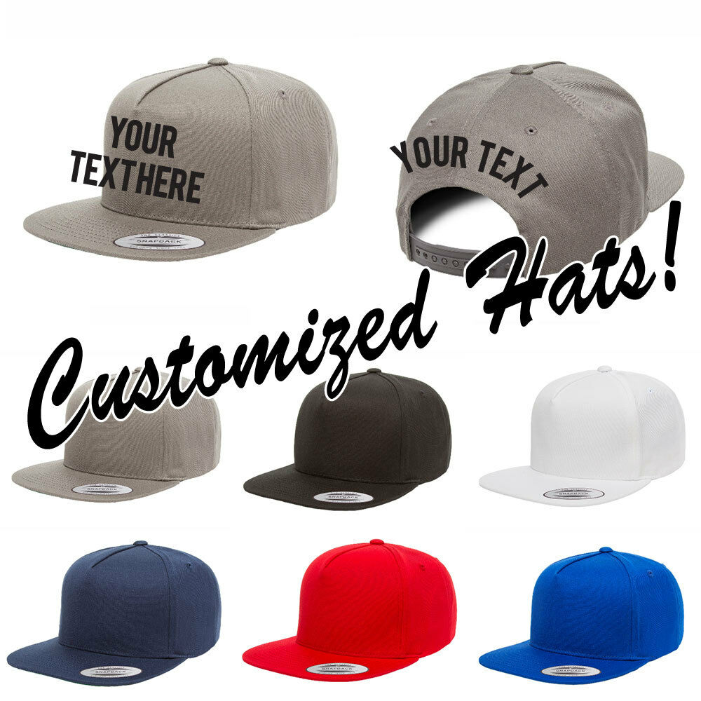 Details about CUSTOM EMBROIDERY Personalized Customized Yupoong 5 Panel  Snapback Cap Hat 6007 caad5ea9793