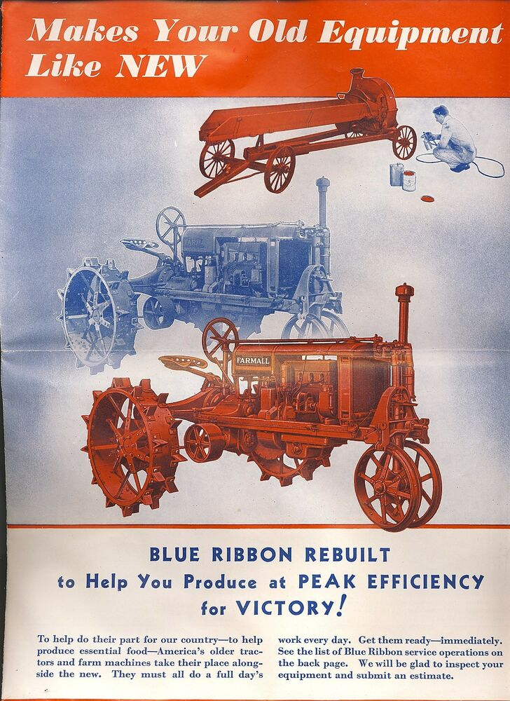 Montana Tractor Parts Lookup : Old farm tractor pamphlet brochure farmall ih