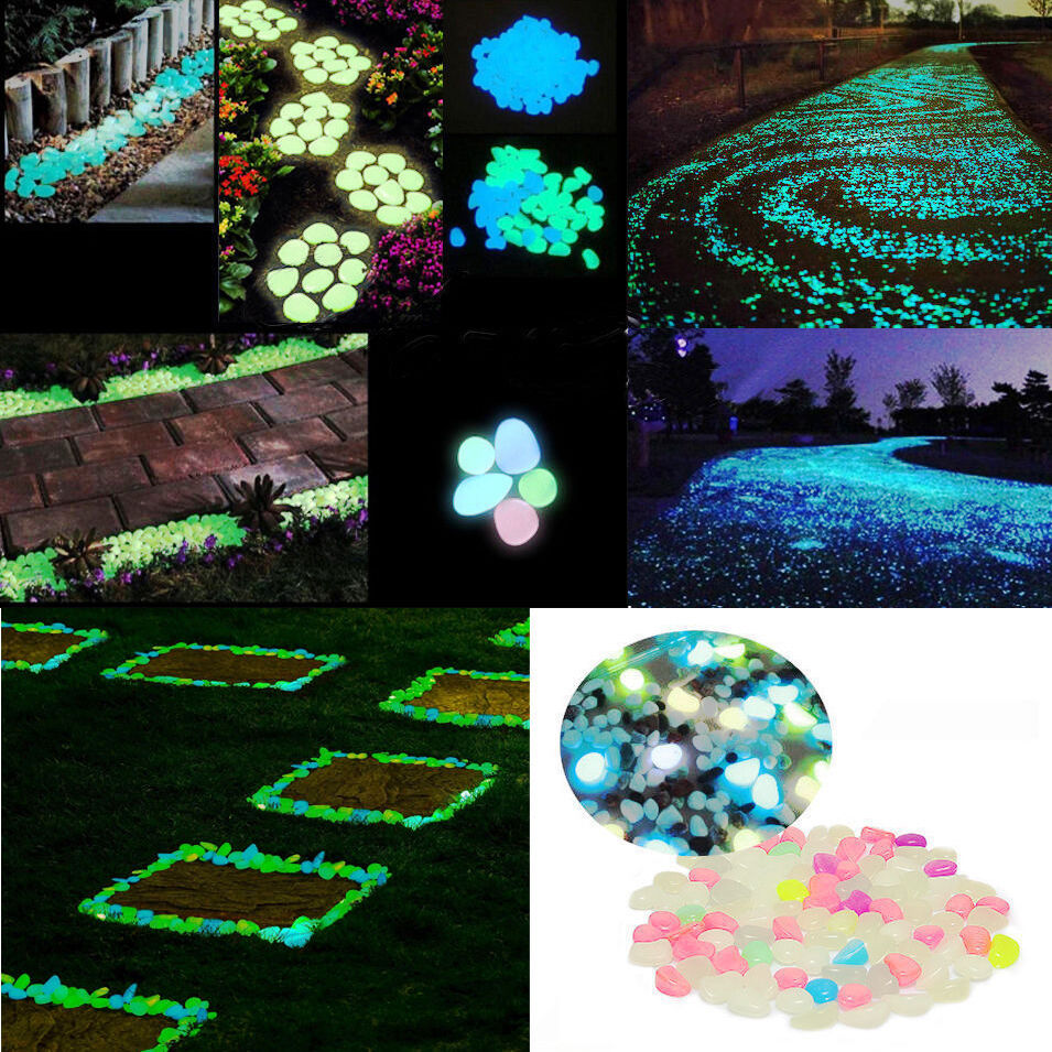 5 20 30pcs colorful glow in the dark pebbles stone home for Glow in the dark fish tank