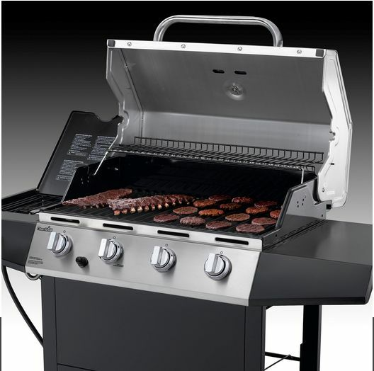 Outdoor gas grill char broil 4 burner stainless steel bbq cooking propane new ebay - All stainless steel grill ...