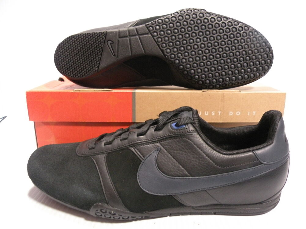 nike montreal leather sneakers black shoes