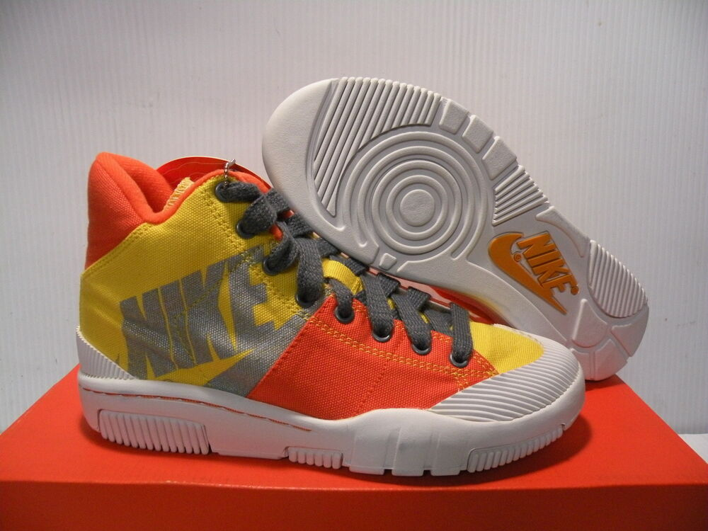 NIKE OUTBREAK HIGH SNEAKERS WOMEN SHOES ORANGE/YELLOW 318635-701 SIZE 5.5 NEW