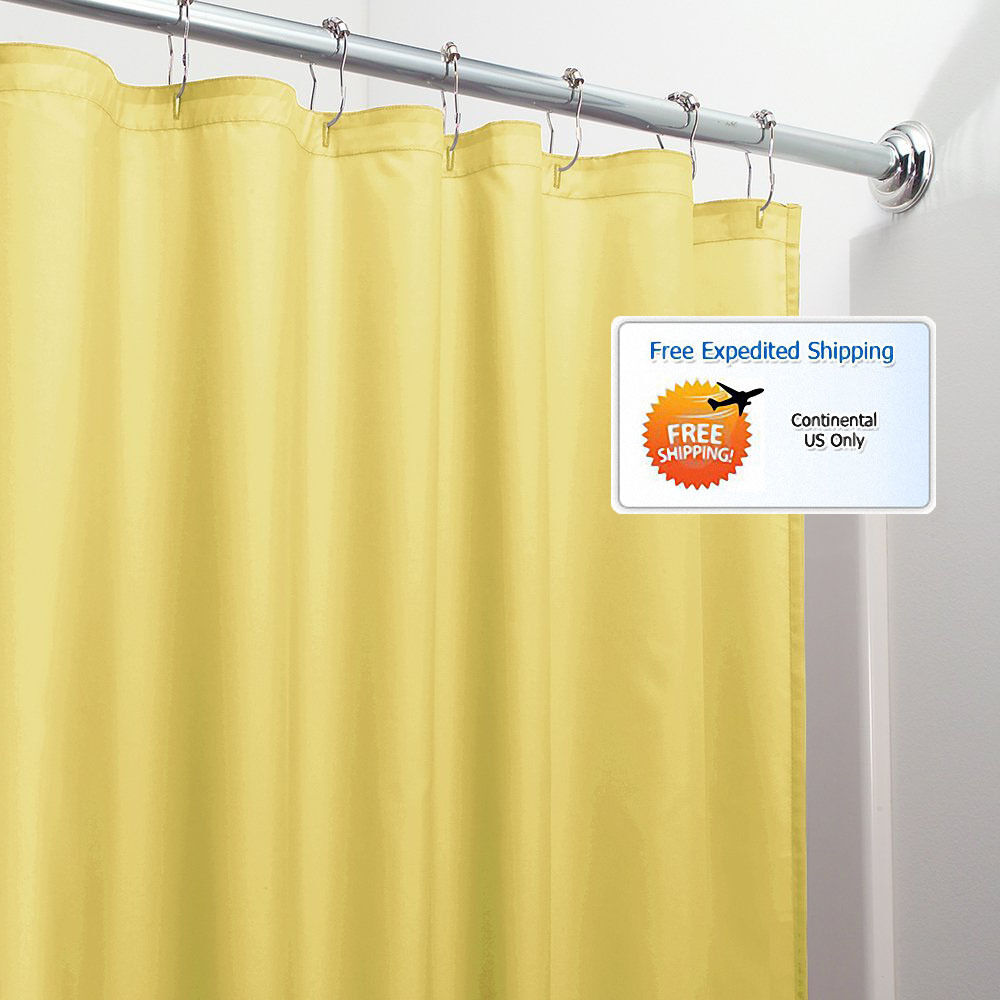 yellow bathroom shower curtain 72 x 72 mold mildew free water repellent soft new ebay