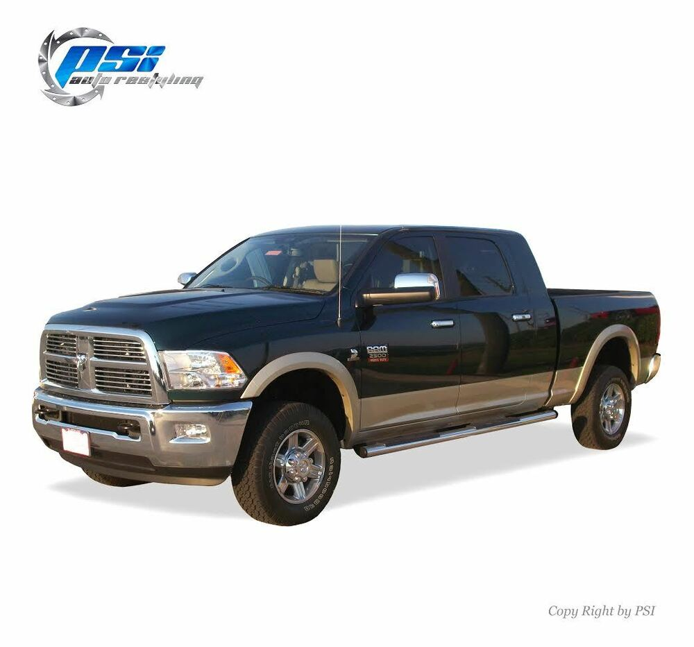 2010 Dodge Ram 2500 Regular Cab Exterior: BLACK PAINTABLE OE Style Fender Flares 2010-2016 Dodge RAM