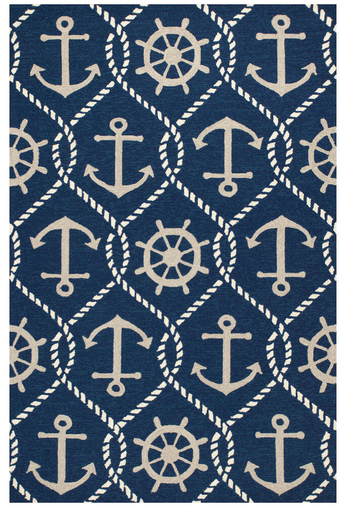 Area Rugs Quot Anchors Aweigh Quot Indoor Outdoor Rug 3 3 Quot X 5