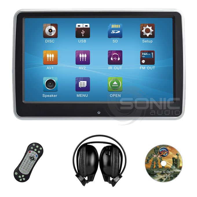 Sonic Audio HR-10CT Universal DVD/SD/USB Tablet-Style Clip