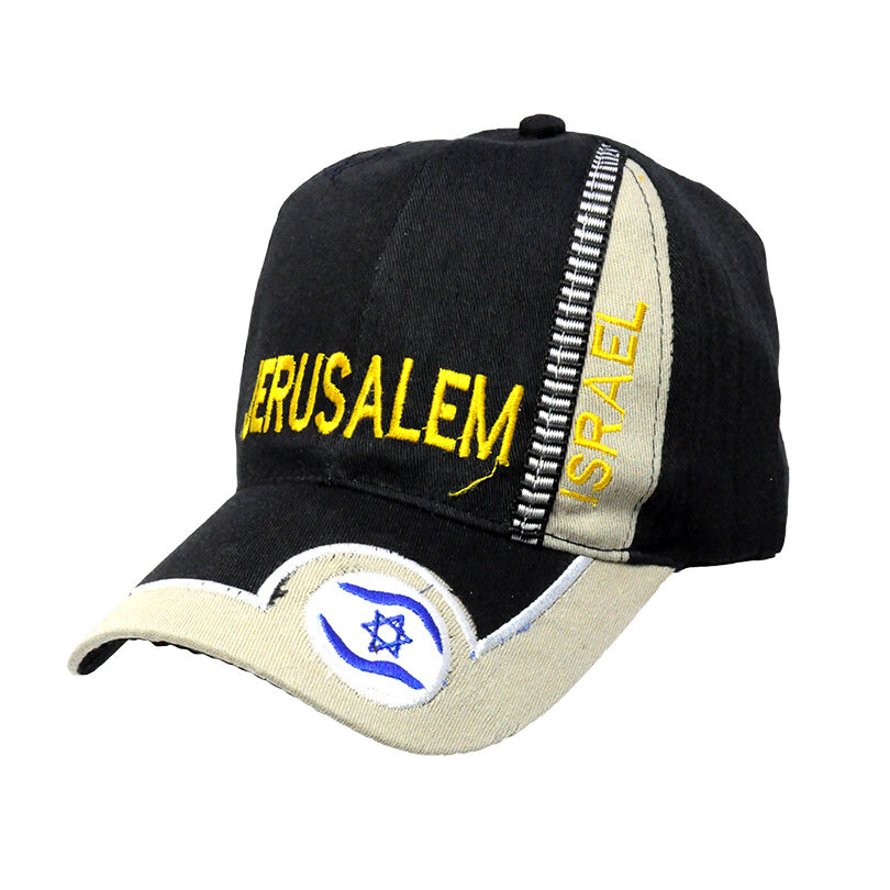 a78a5a8a57f Details about Brand new Black Jerusalem Israel flag Embroidered Baseball  cap hat fashion gift