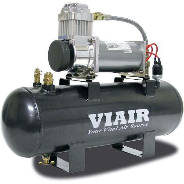 air compressor tank viair 380c 12v air compressor 200 psi 2 gal tank on board 11042