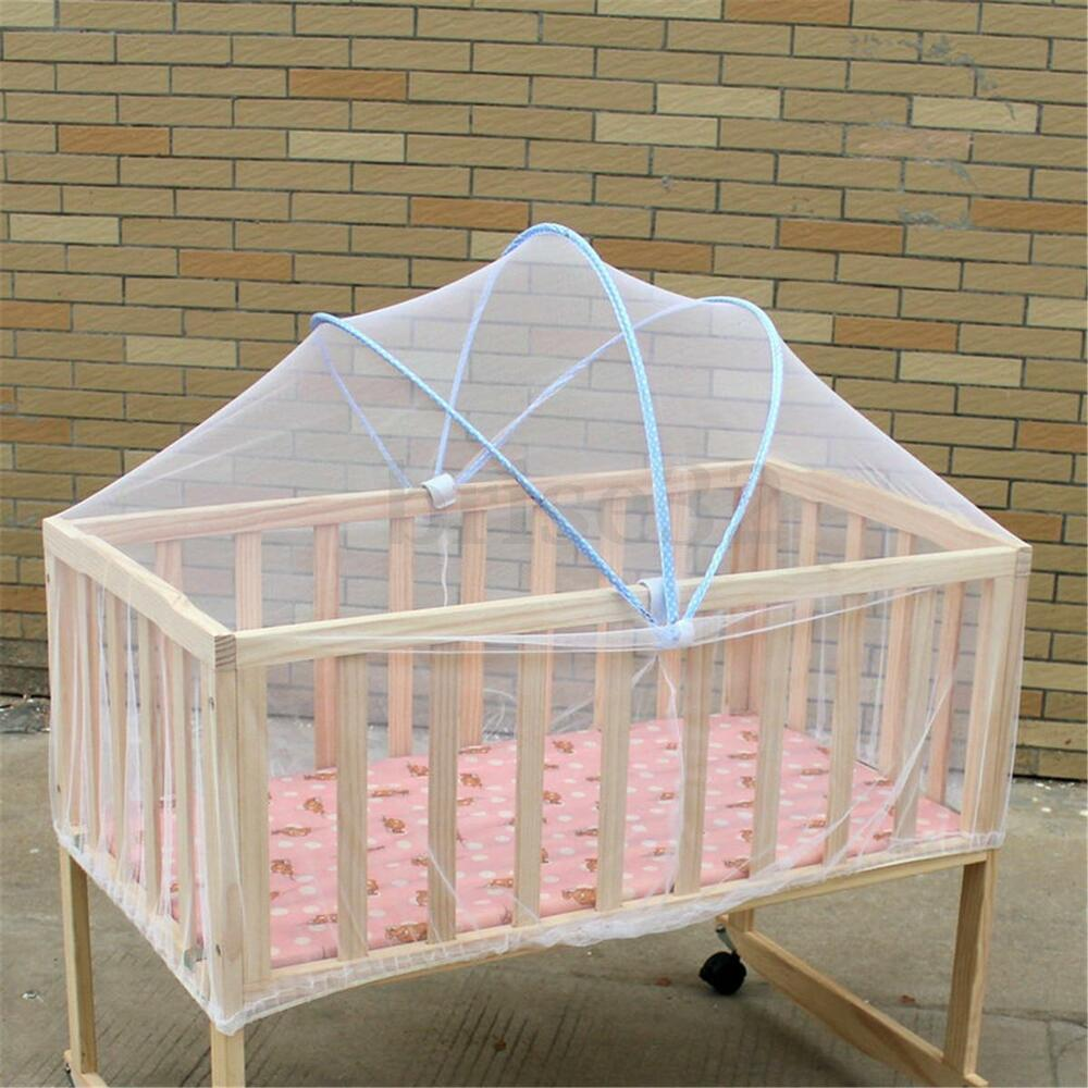 Summer White Baby Cradle Bed Canopy Mosquito Net Toddlers
