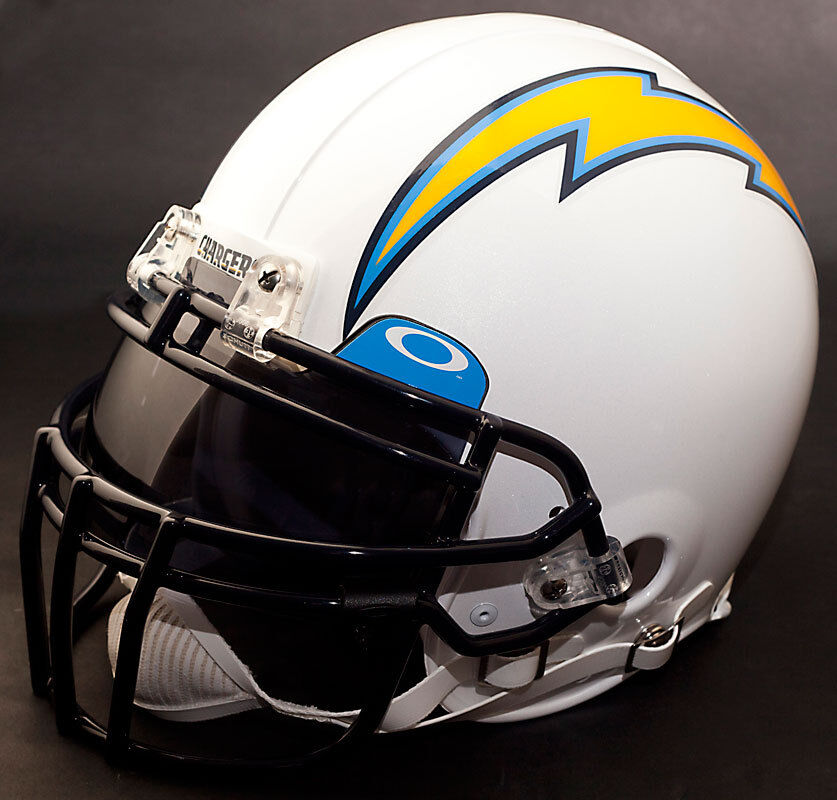 San Diego Chargers Football Helmet: SAN DIEGO CHARGERS NFL Authentic GAMEDAY Football Helmet W