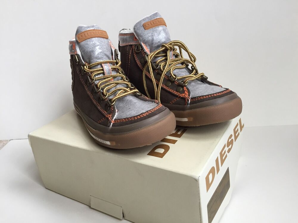 diesel boy high tops sneakers shoes size 31 us 13