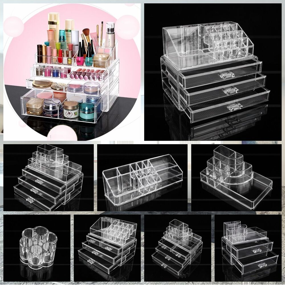 neu 9 modell kosmetik organizer make up aufbewahrung. Black Bedroom Furniture Sets. Home Design Ideas