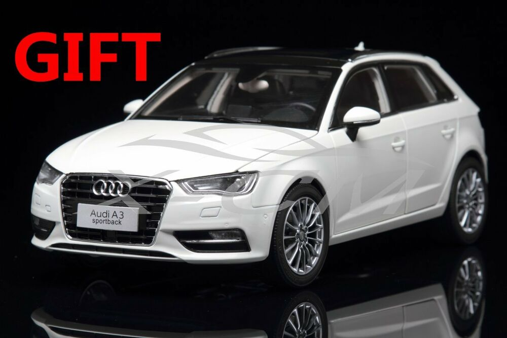 car model audi a3 sportback 1 18 white small gift. Black Bedroom Furniture Sets. Home Design Ideas