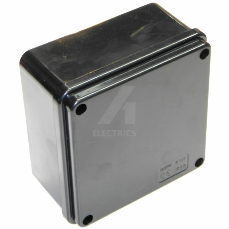 Install Porch Light Junction Box: Outdoor Junction Box 100 X 50mm Square BLACK Weatherproof