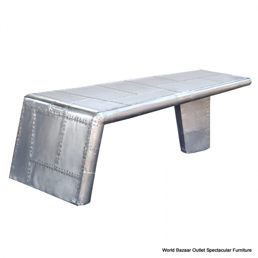 52 Long Aviator Coffee Table Aircraft Wing Aluminum Cool Modern Design Ebay