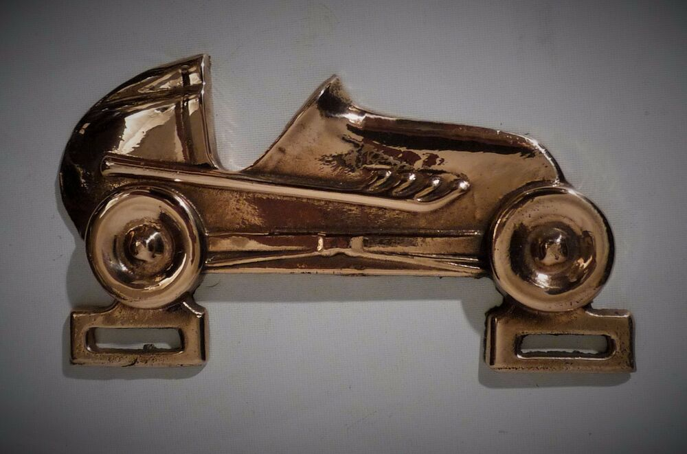 vtg bronze sprint car dirt track license plate topper rare new old stock 30 40s ebay. Black Bedroom Furniture Sets. Home Design Ideas