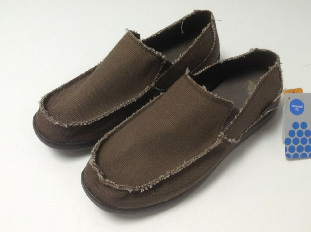 c8b6dd32a2e4a Details about CLOSEOUT Crocs Men's Avast Canvas Slip On Loafer Espresso /  Espresso M7/W9