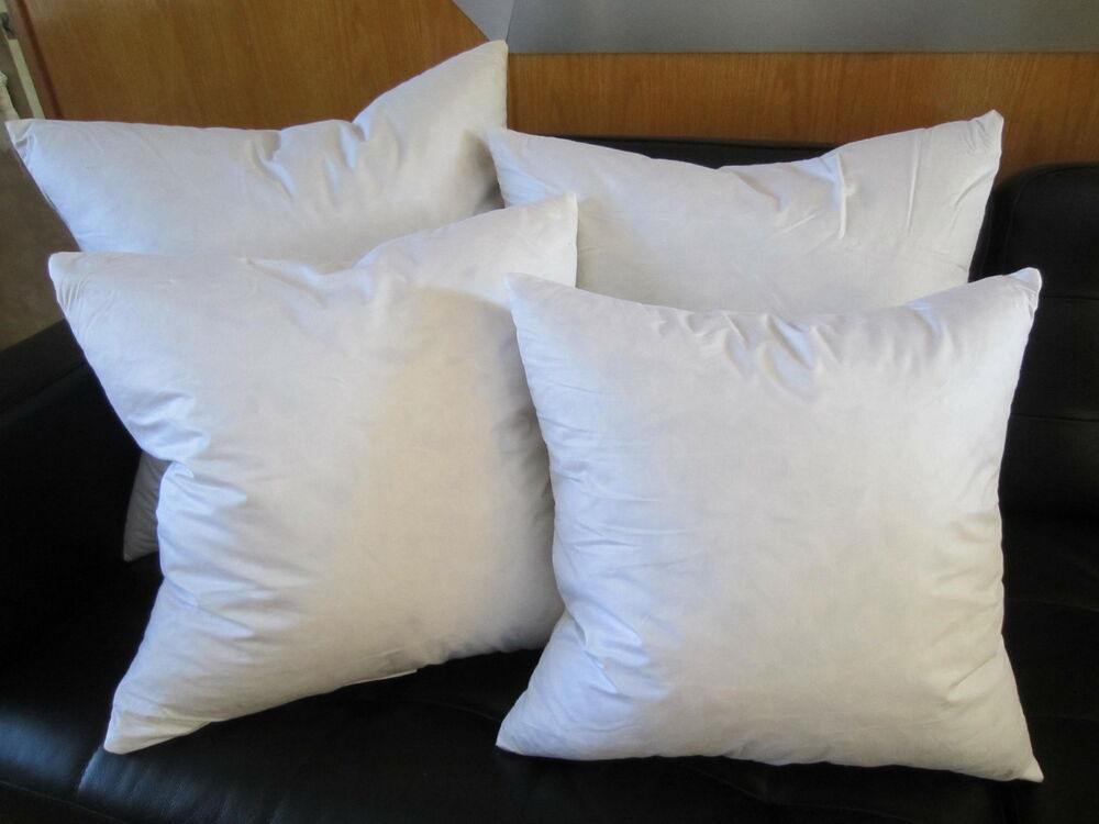 Throw Pillow Insert Sizes : FEATHER / DOWN Square Euro Pillow Insert Form - ALL SIZES!! Made in USA Cushion eBay