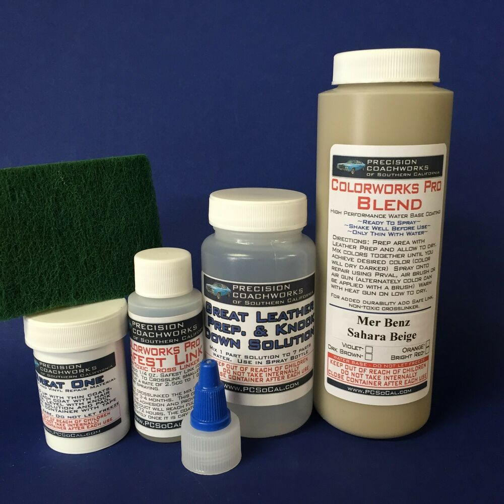 Colorworks pro leather vinyl repair kit mercedes benz for Mercedes benz upholstery repair