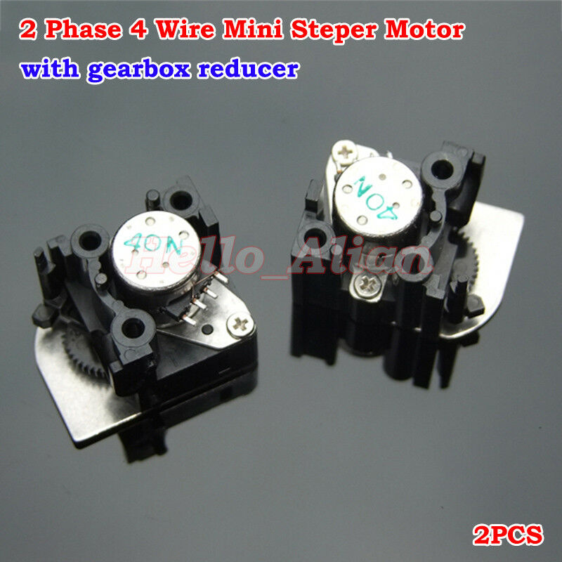 2pcs dc 5v 2 phase 4 wire miniature 15mm stepper motor for Three phase stepper motor