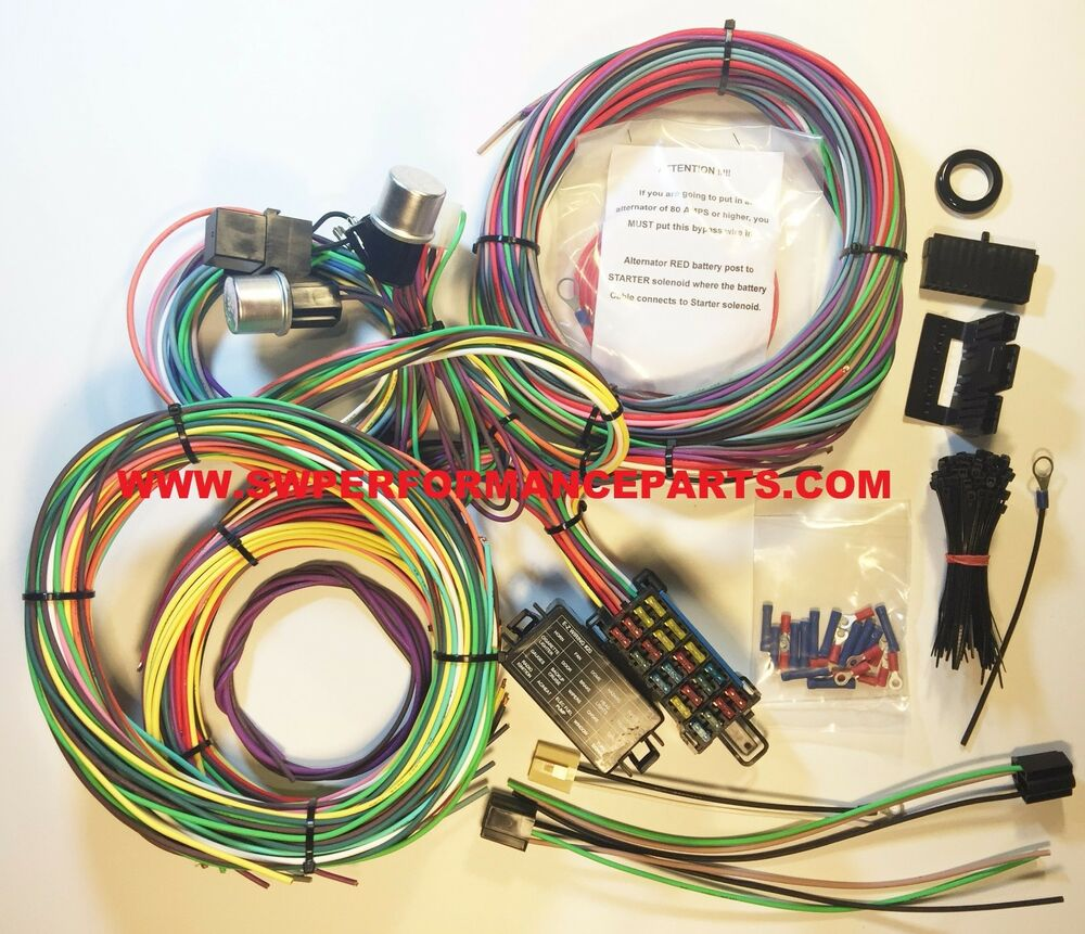 new 21 circuit ez wiring harness mini fuse chevy ford. Black Bedroom Furniture Sets. Home Design Ideas