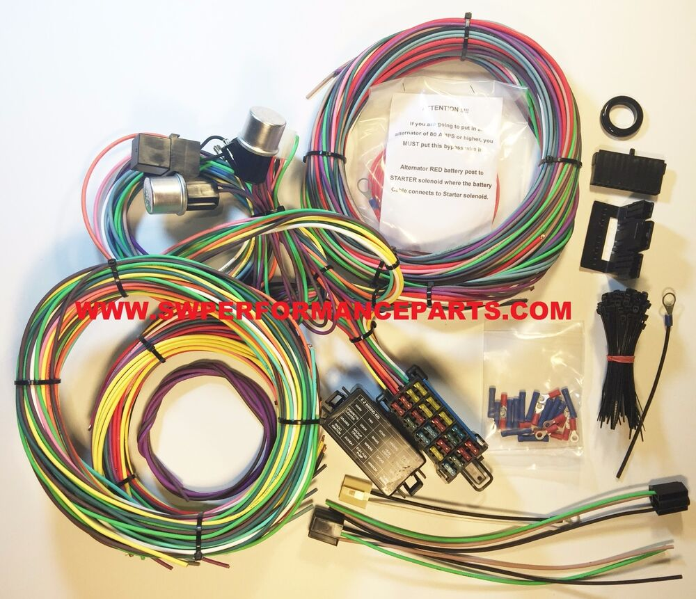 new 21 circuit ez wiring harness mini fuse chevy ford Chevy Wiring Harness Trailer Wiring Harness