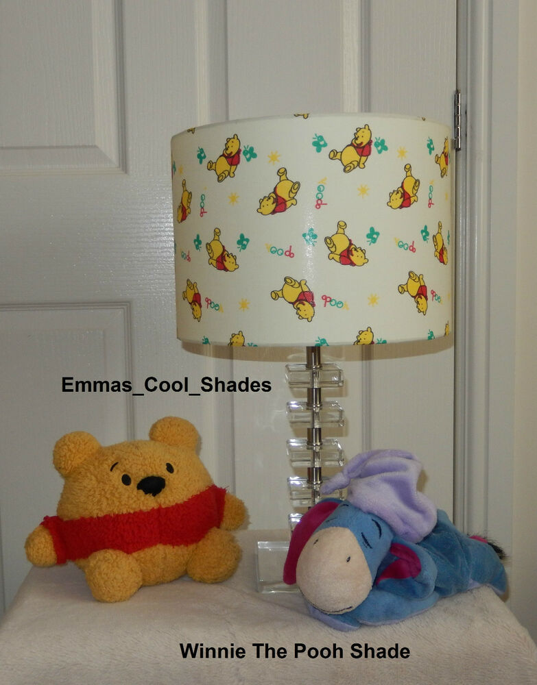 Handmade lampshade disney winnie the pooh 20 30 cm baby for Nursery fabric sale