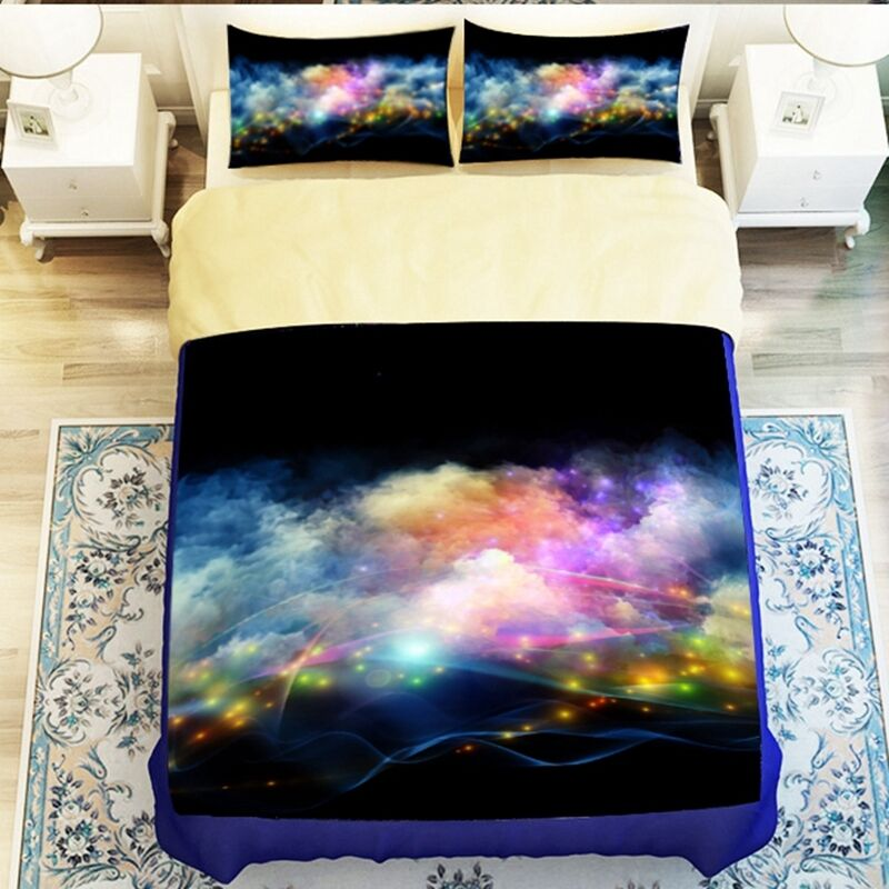 Galaxy 3d bedding set universe outer space themed print for Outer space bedding