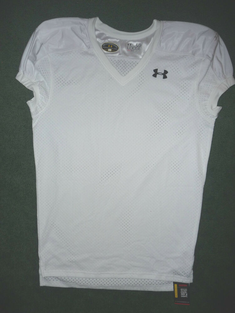 Under armour mens football practice jersey new size large for Under armour heatgear white shirt