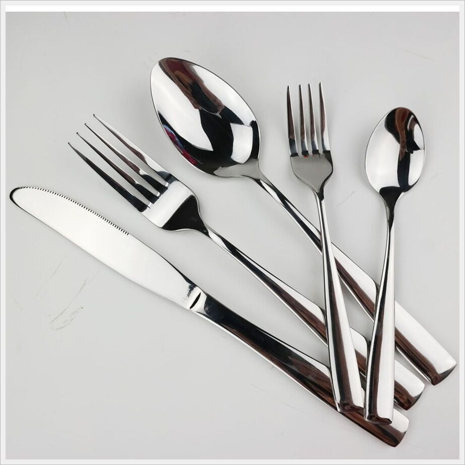 20 Pcs Stainless Steel Modern Silverware Flatware Dinner Set Service Dinner Ebay