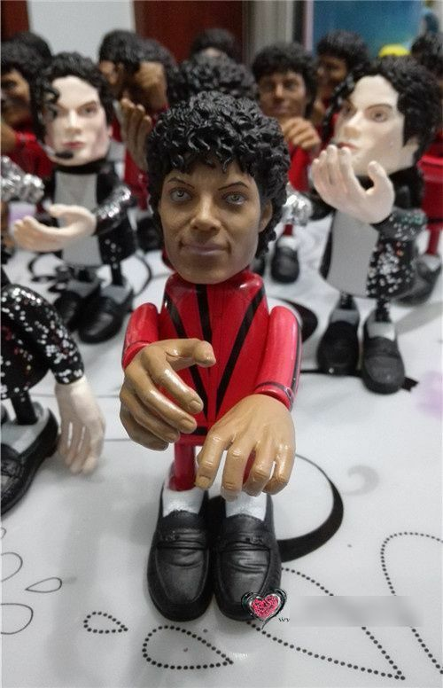 Michael jackson figure thriller zombie doll king pop for Three jackson toy
