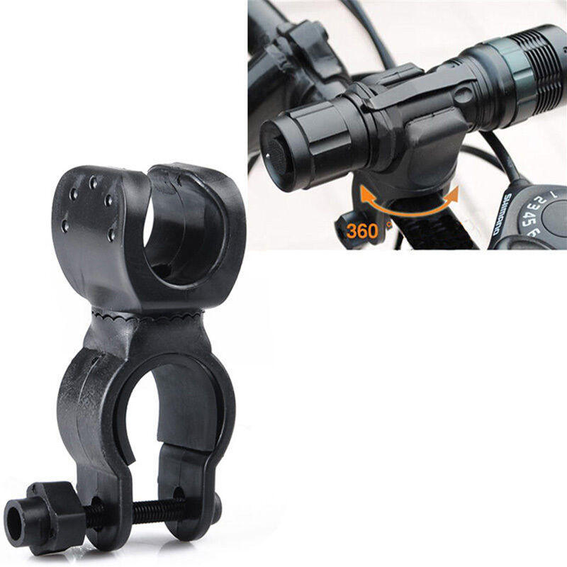 4-PCS Bicycle Mount Holder Clip Clamp 360°Swivel for Led Flashlight