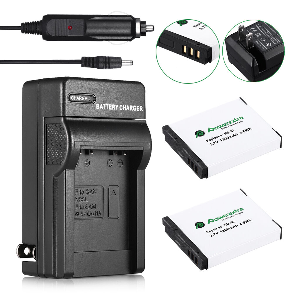 2 Nb 6lh Nb 6l Battery Amp Charger For Canon Powershot D10 S95