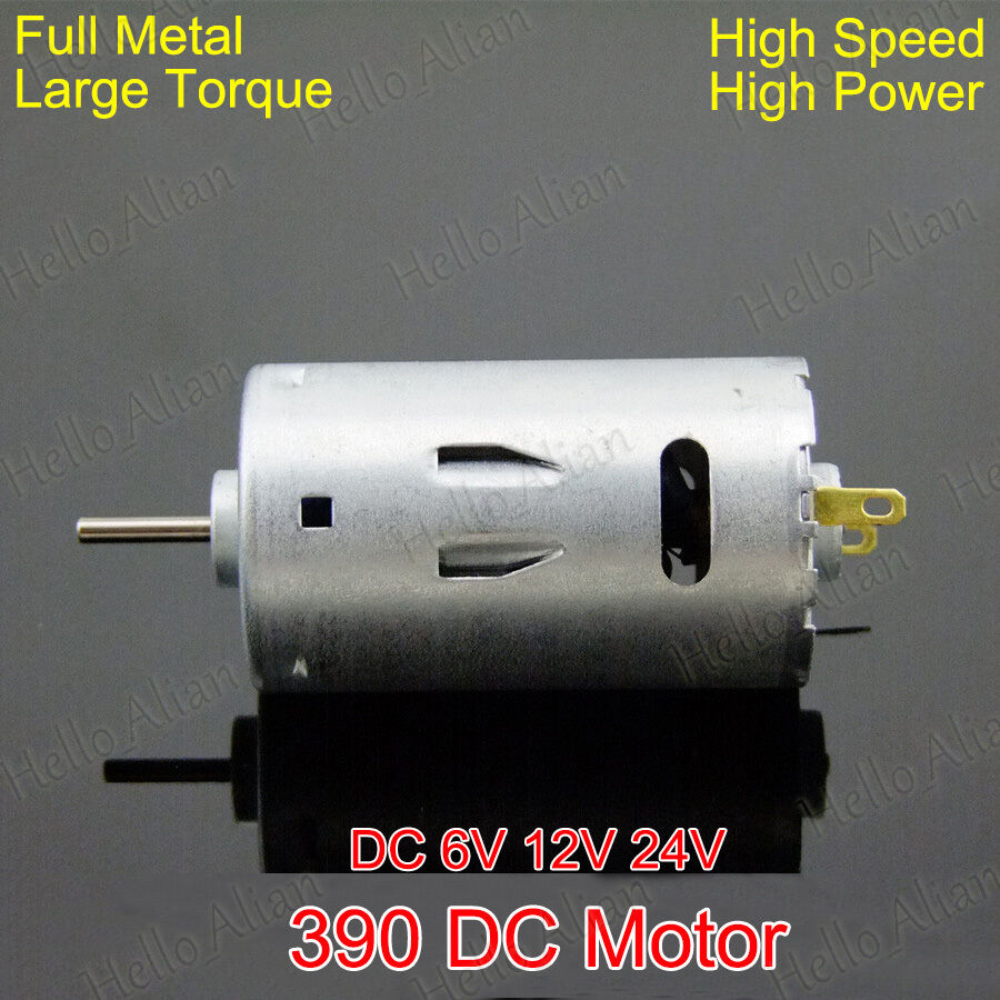 Dc 6v 24v 12v 26000rpm high speed large torque 390 dc for High torque high speed dc motor