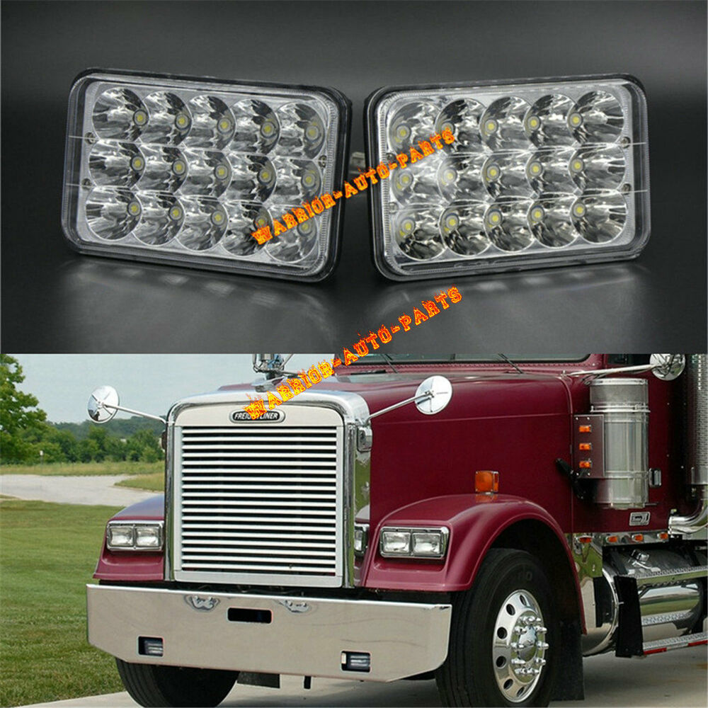 LED Headlights Sealed Beam Headlamps For FREIGHTLINER FLD 120 FLD 112 2  Pieces 614993071611 | eBay