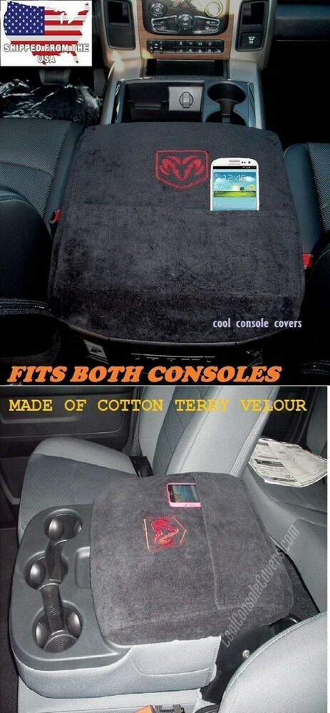 2000 2017 Dodge Ram 1500 2500 Cool Black Console Cover Embroidered Logo Ebay