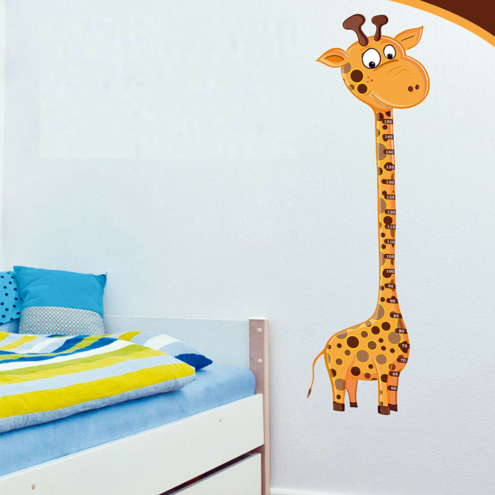 wandtattoo messlatte kinderzimmer motiv giraffe sticker selbstklebend wandbild ebay. Black Bedroom Furniture Sets. Home Design Ideas