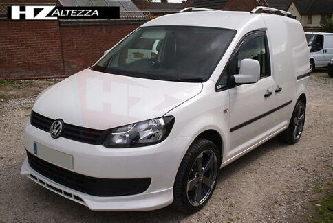 vw caddy 2010 facelift front bumper lip splitter ebay. Black Bedroom Furniture Sets. Home Design Ideas