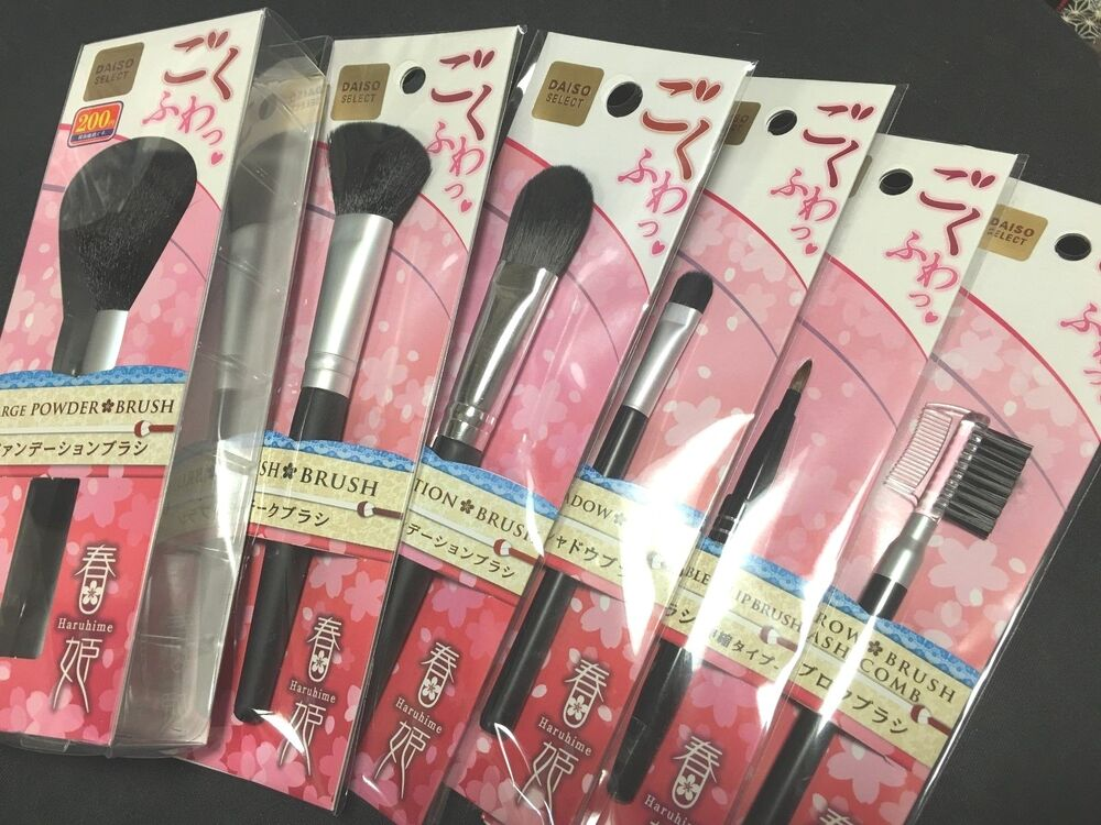 Daiso Japan Make Up Brush Set 6 Kinds Haruhime 春姫 Goku