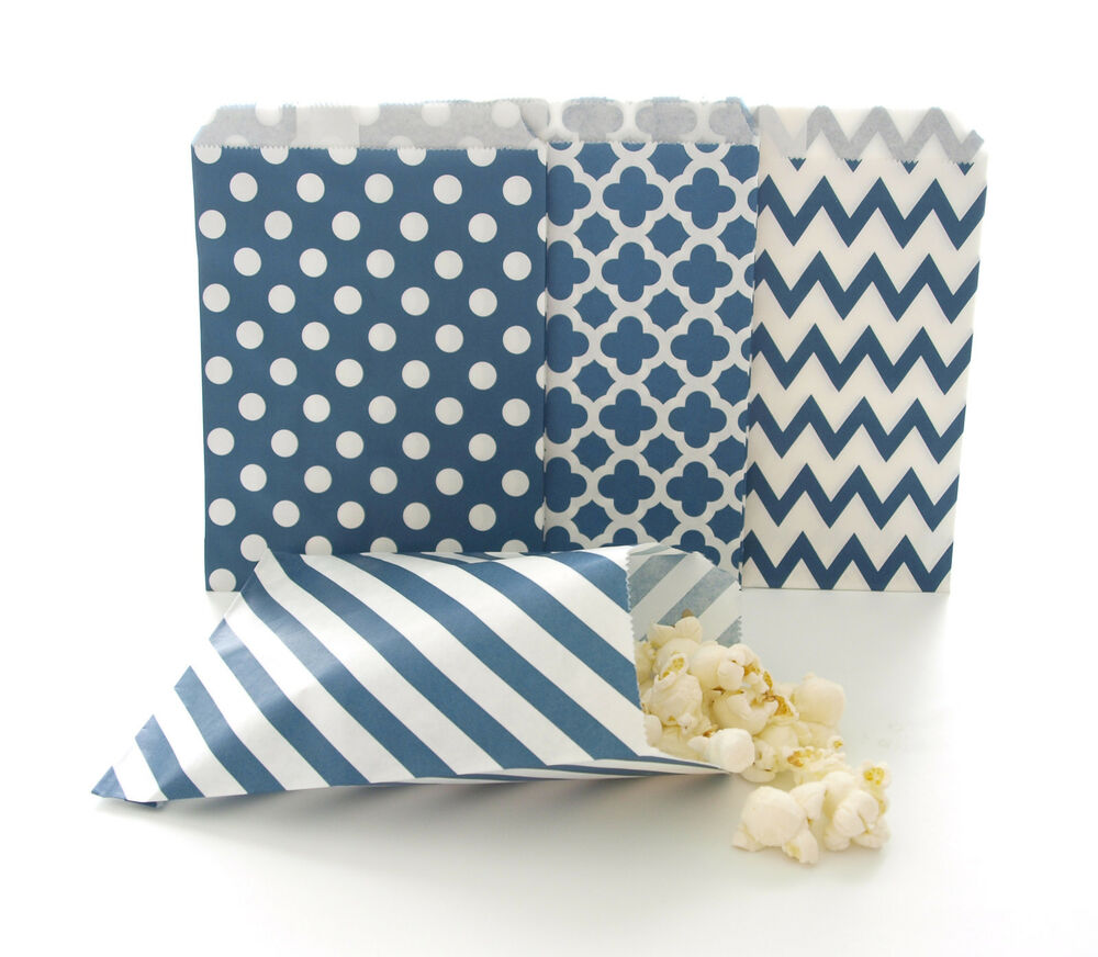Navy Blue Paper Bags Party Pack (100 Pack) - Pinata Candy ...