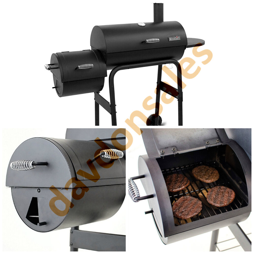 bbq grill offset smoker charcoal pit outdoor cooker wood patio cooking barbeque ebay. Black Bedroom Furniture Sets. Home Design Ideas