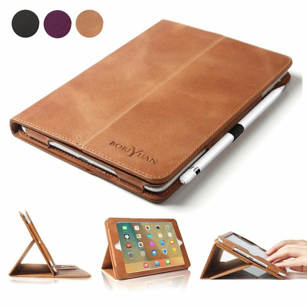 apple ipad pro 9 7 2016 premium genuine leather case smart magnetic folio cover ebay. Black Bedroom Furniture Sets. Home Design Ideas