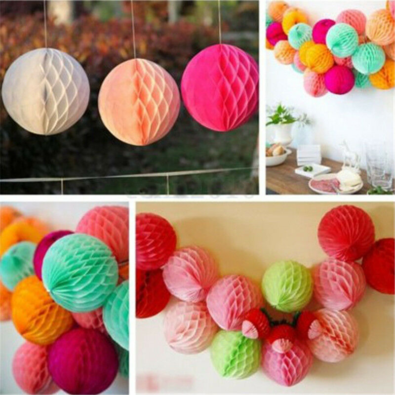 1xcolorful cool honeycomb ball paper lanterns wedding for Cool paper decorations
