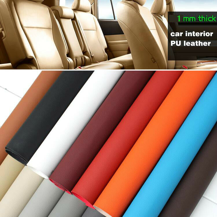 1mm Thick Leather Pu Leather Faux Leather Fabric Car Interior Seats Leather Bty Ebay