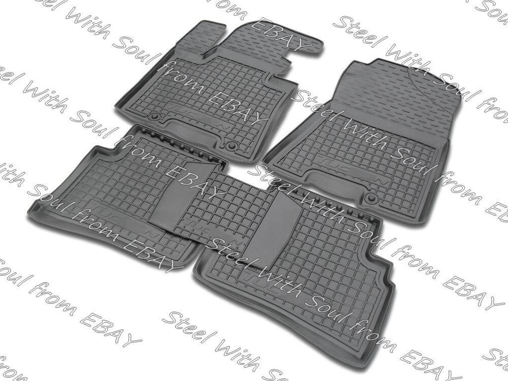 Fully Tailored Rubber Set Of 5 Car Floor Mats For