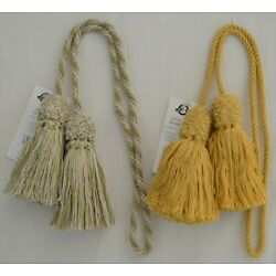 Curtain & ChairTie - Conso 27.5''spread w/ 4'' tassels w/ 1/4'' cord - 2 colors!
